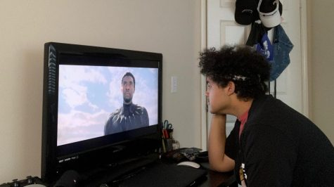 "Marvel enthusiast and Digital Media Editor-In-Chief Harlow Frank watches late actor Chadwick Boseman portray one of his iconic roles as the ""Black Panther"" on Sept. 2."