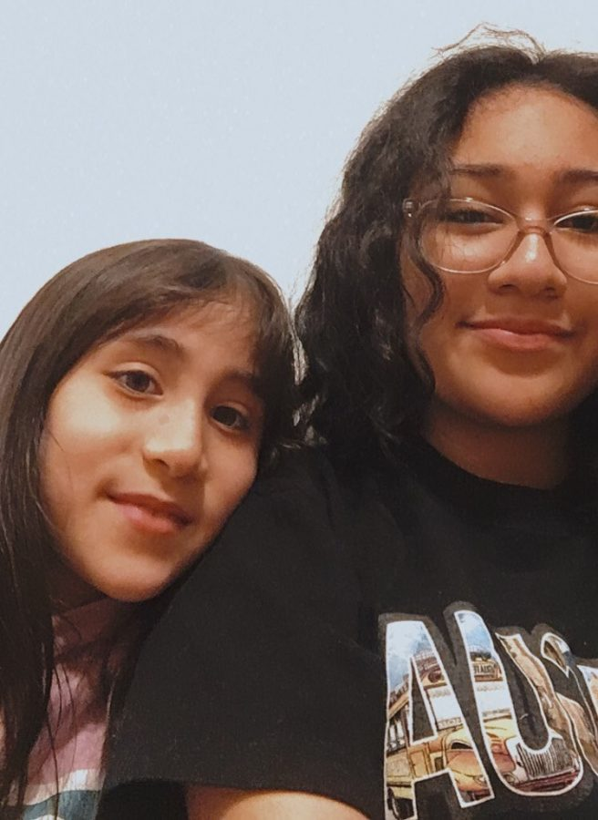 Sophomore Lucia Avellaneda helps take care of her 8-year-old sister when their mother is unavailable.