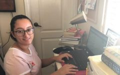Junior Nadia Montiel does her online school work on Oct. 1. In her advisory class, she's able to discuss a variety of topics, including growth mindsets.