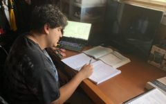 Alumni Christopher Sarenana is a freshman at California State University, Northridge and is continuing with distance learning. Like some of his fellow classmates, adjusting  to the new apps his college uses can be a struggle.