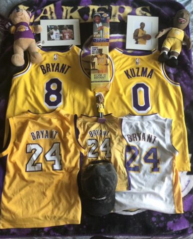 Online Editor-In-Chief Parampreet Aulakh shows off some of his Lakers gear as he celebrates their NBA Finals win. He has been a Lakers fan for as long as he can remember.