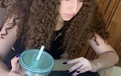 Sophomore Giselle Khalil works on Edgenuity homework during distance learning.