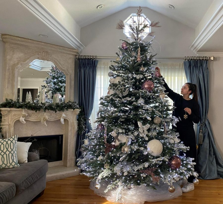 Freshman+Alysa+Basmadzhyan+enjoys+decorating+her+house+and+the+Christmas+tree+to+lighten+the+mood+during+quarantine.+