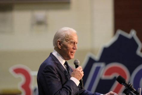 President Joe Biden speaks at a campaign rally in Norfolk, Virginia at Booker T. Washington High School. Photo by Carter Marks of Royals Media