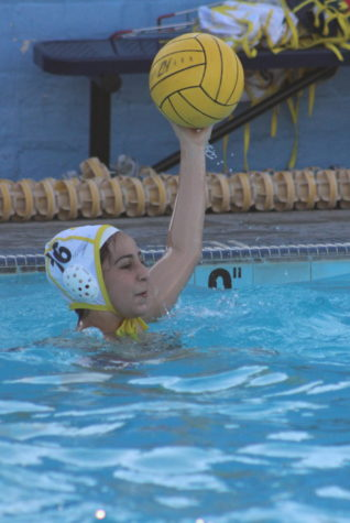 Senior Amelia Sanchez gets ready to pass the ball during practice on March 17.