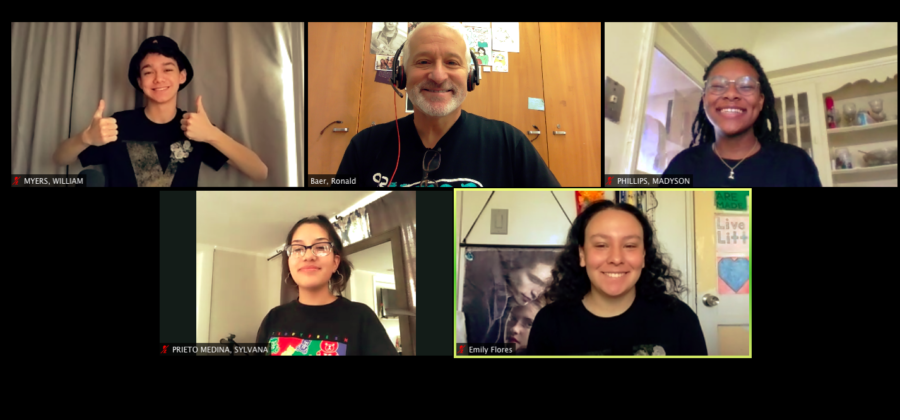 Daniel Pearl Magnet High School's Get Lit team meets over Zoom to prepare for the annual Get Lit Classic Slam Quarter-final competition.