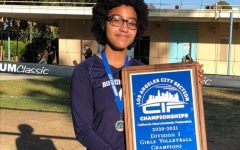 """Naamah Silcott is named the CIF All-City Division I girls' volleyball co-player of the year. This was after the BCCHS varsity volleyball team won the city championship. """"It felt like a dream I guess,"""" said Silcott, an incoming Daniel Pearl Magnet High School junior."""