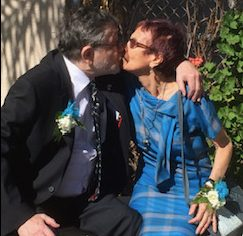 The Pearls share a kiss at Dannys Garden on the DPMHS campus in October 2014.