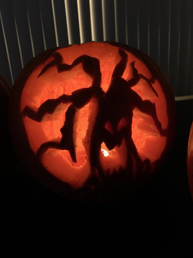 Senior Chareena Pascua carved a spooky tree to get in the Halloween spirit.